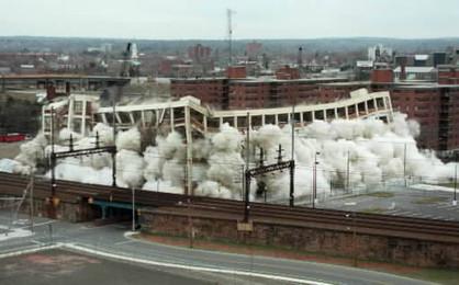 Yost Writing Machine Company Factory Imploded