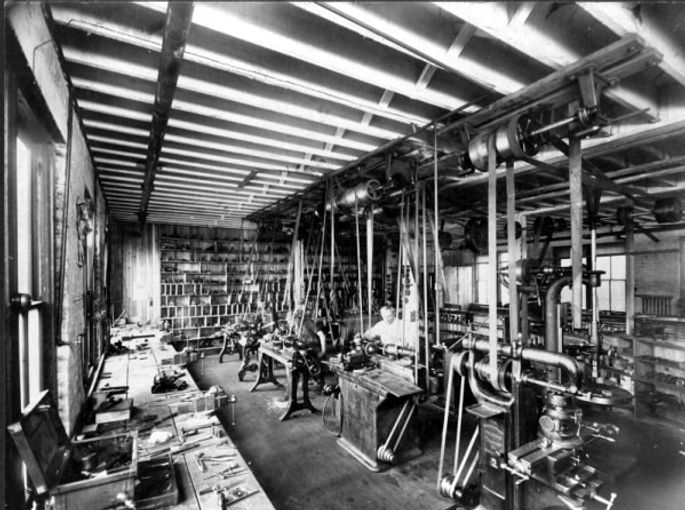 Inside the Chicago Writing Machine Company Factory