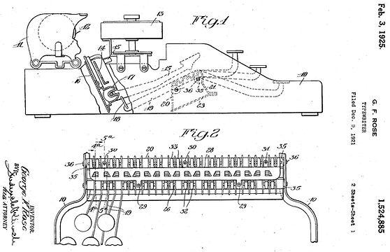 Masspro Typewriter Patent