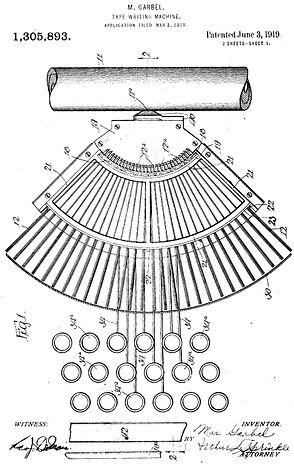 Garbell Typewriter Patent