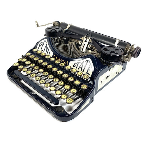 Penn State Corona Four Portable Typewriter w/ Case