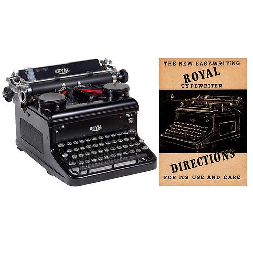 Royal KHM Typewriter Instruction Manual