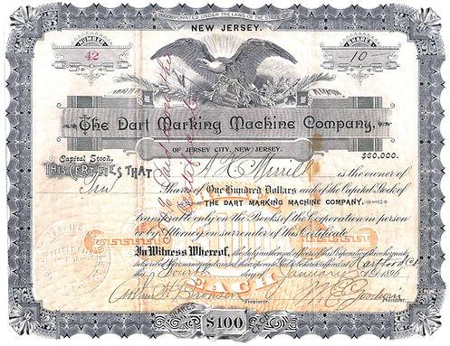 The Dart Marking Machine Company Stock from G. Burbano