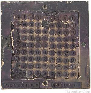 Hall  Typewriter Type Plate