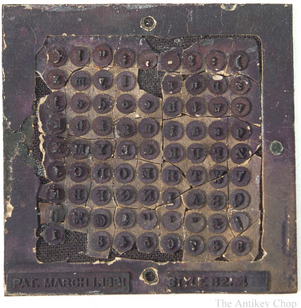 Hall  Typewriter Type Plate