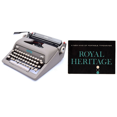 Royal Heritage Typewriter Instruction Manual