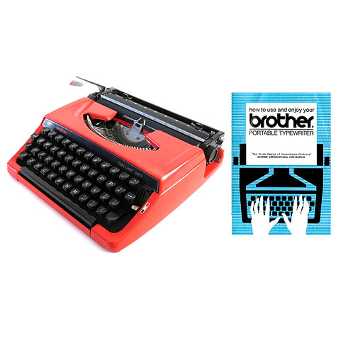Brother Portable Typewriter Instruction Manual