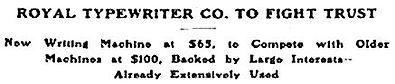 Royal Typewriter Co. v. Union Typewriter Co.