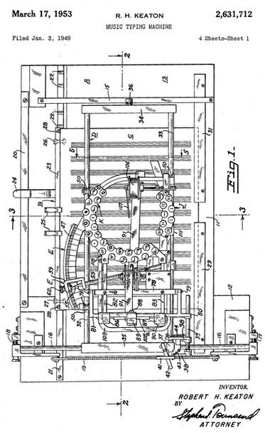 Keaton Music Typewriter Patent