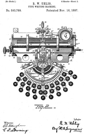 Commercial Visible Typewriter Patent