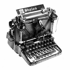 Sholes Visible Typewriter