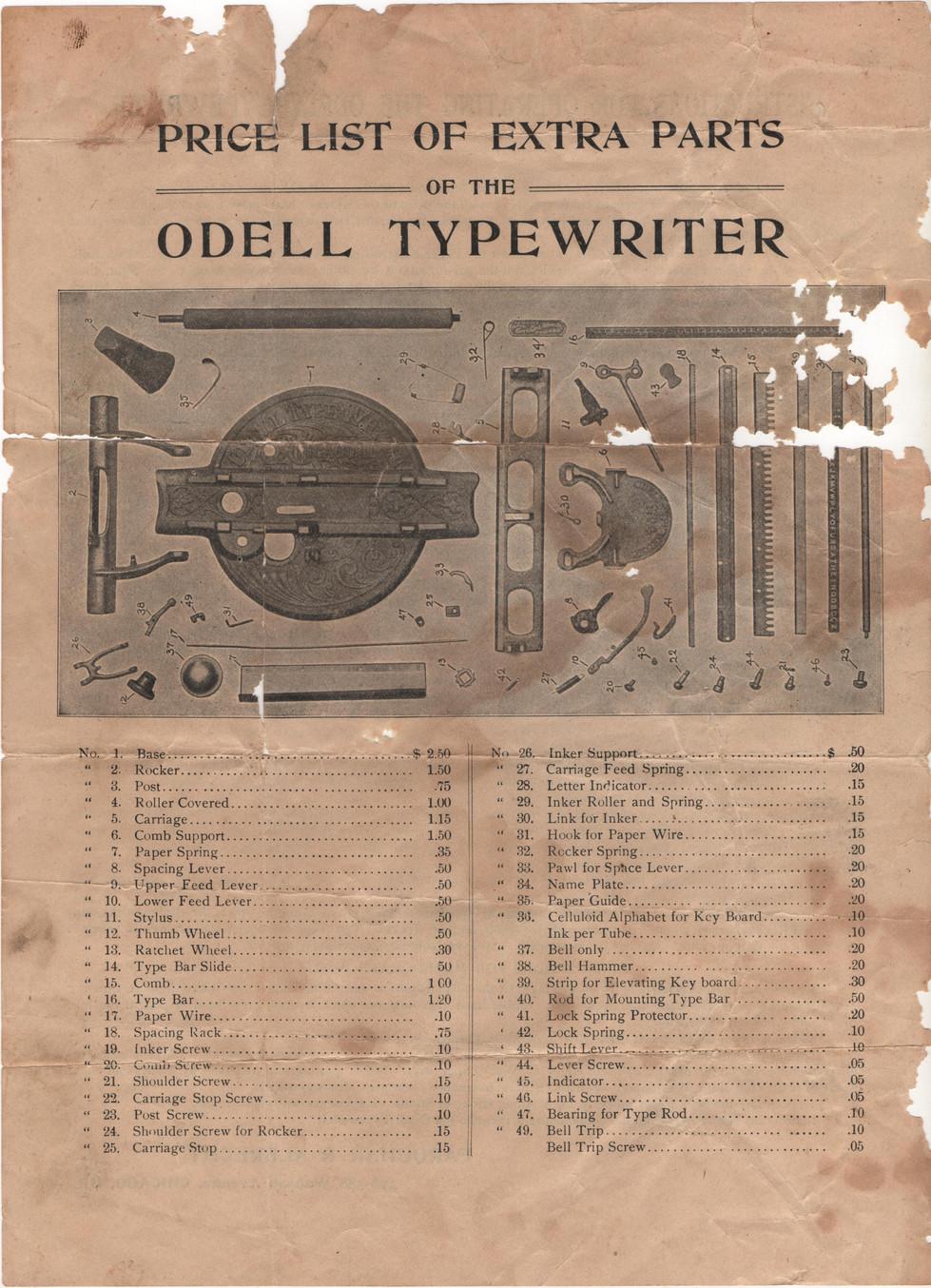 Odell Typewriter Ad