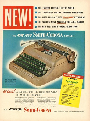 Smith Corona 5 Series Typewriter Ad 1949