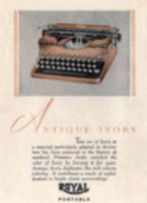 Royal Model P Portable Typewriter Colors