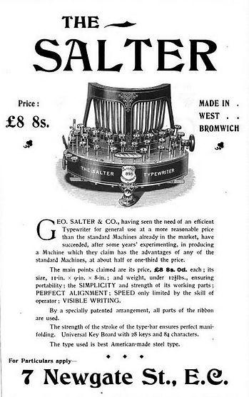 Salter No.5 Ad 1896