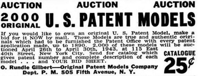 O. Rundle Gilbert Patent Model Auction