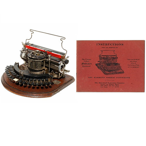 Hammond Multiplex 1st Model Typewriter Instruction Manual