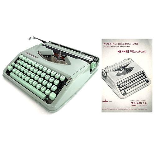 Hermes Rocket Typewriter Instruction Manual