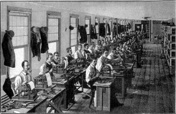 Inside the Remington Typewriter Works Factory