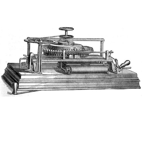 American Typographic Machine (Typewriter)