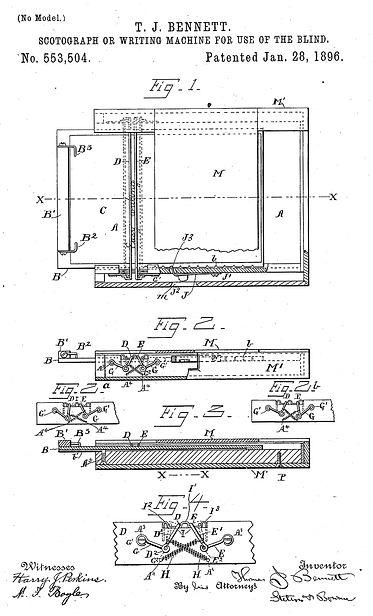 Bennett Scotograph Patent