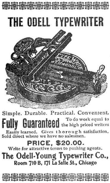 Odell No.3 Typewriter Ad