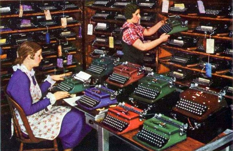 Royal Typewriter Factory Final Inspection ca.1935