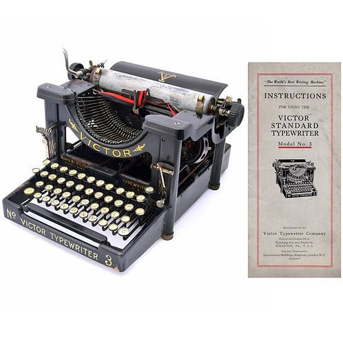 Victor No.3 Typewriter Instruction Manual