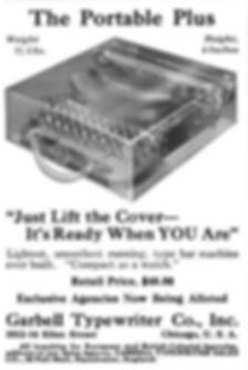 Garbell Portable No.1 Typewriter Ad