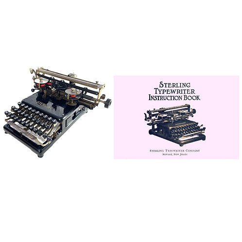 Sterling No.2 Typewriter Instruction Manual
