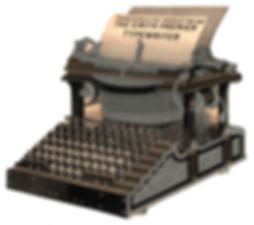 Smith Premier No.1 Typewriter Die Cut Card