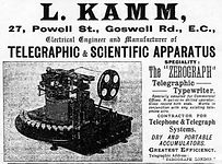 Kamm's Zerograph Ad