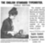 The English Typewriter Ad