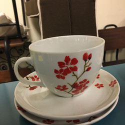 #1278 Cups and Saucers $6