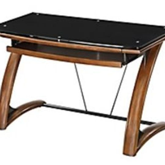 #762 Brown and Black Desk $140