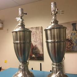 #1270 Pair of Lamp Stands $30