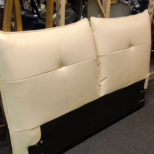 #693 Queen Cream Headboard $75