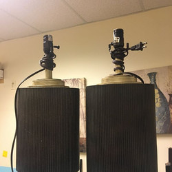 #1269 Pair of Lamp Stands $30
