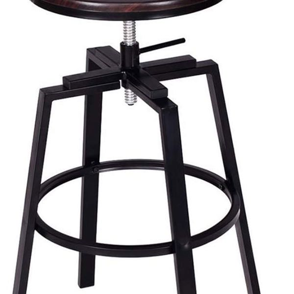 #897 Black/Brown Adjustable Stool $25
