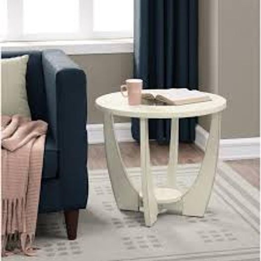 #498 White End Table $50