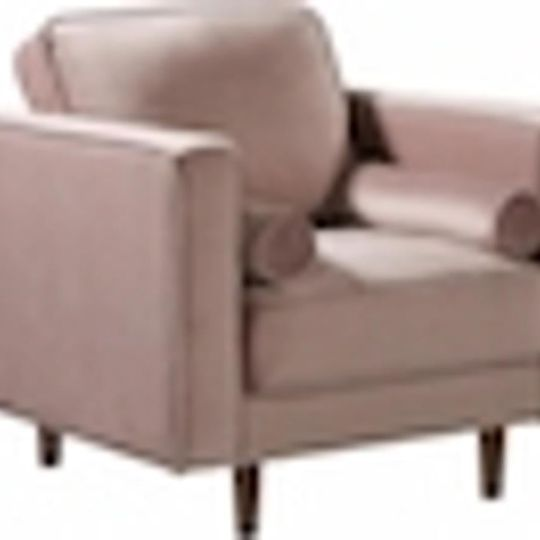 #181 Pink Velvet Accent Chair $200 (2 Available)