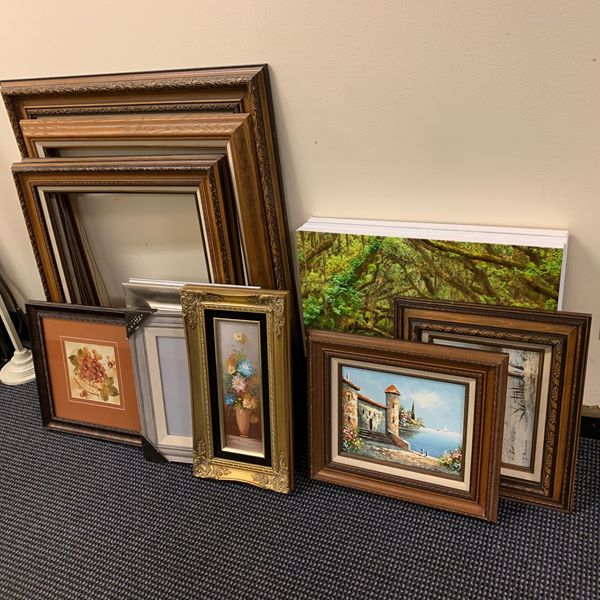 #1280 Wall Art, Frames $5 Each