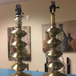 #1285 Pair of Lamp Stands $30