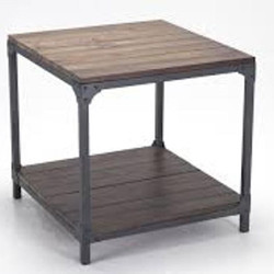 #565 Brown and Black End Table $55 (2 Available)