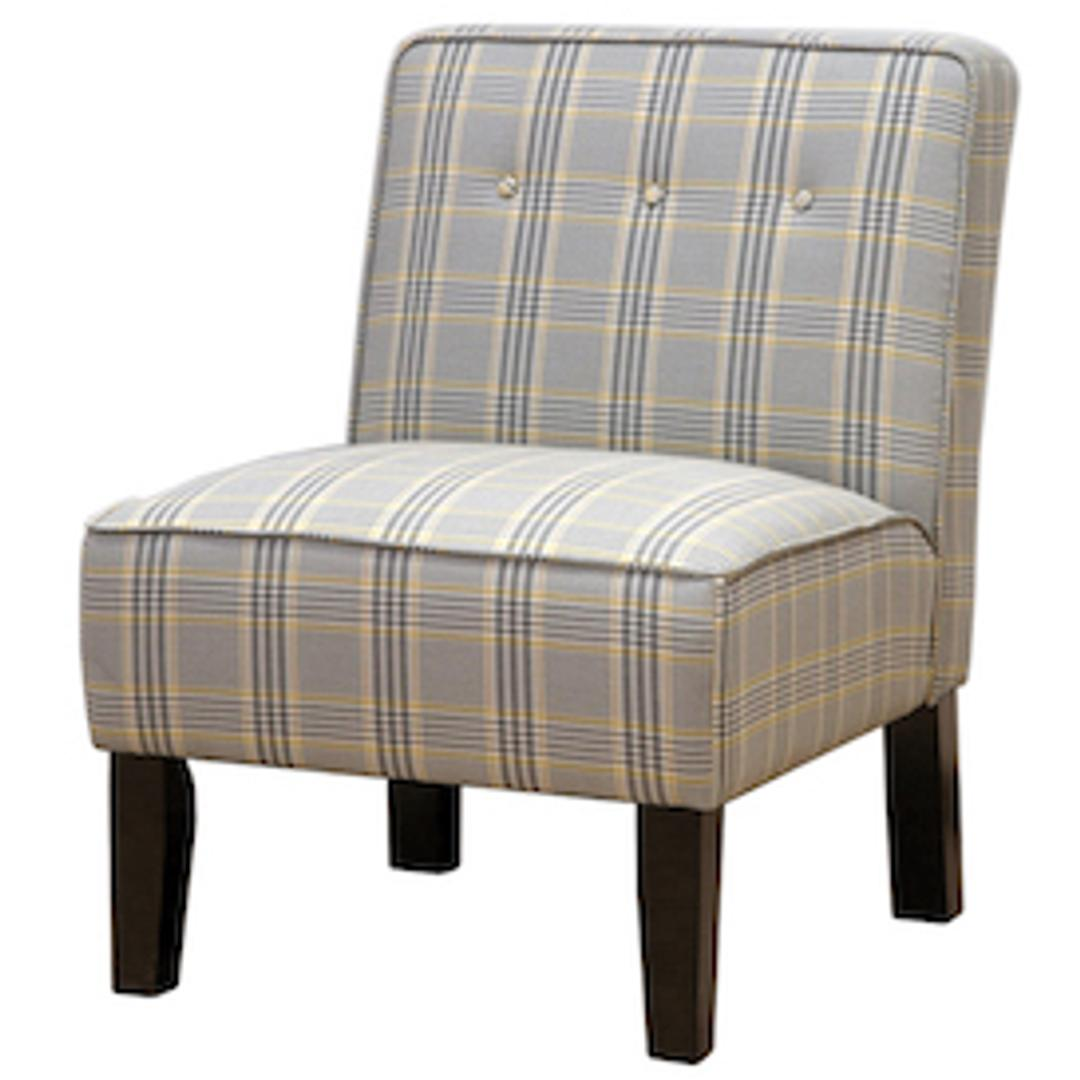 #186 Plaid Accent Chair (Only One) $90