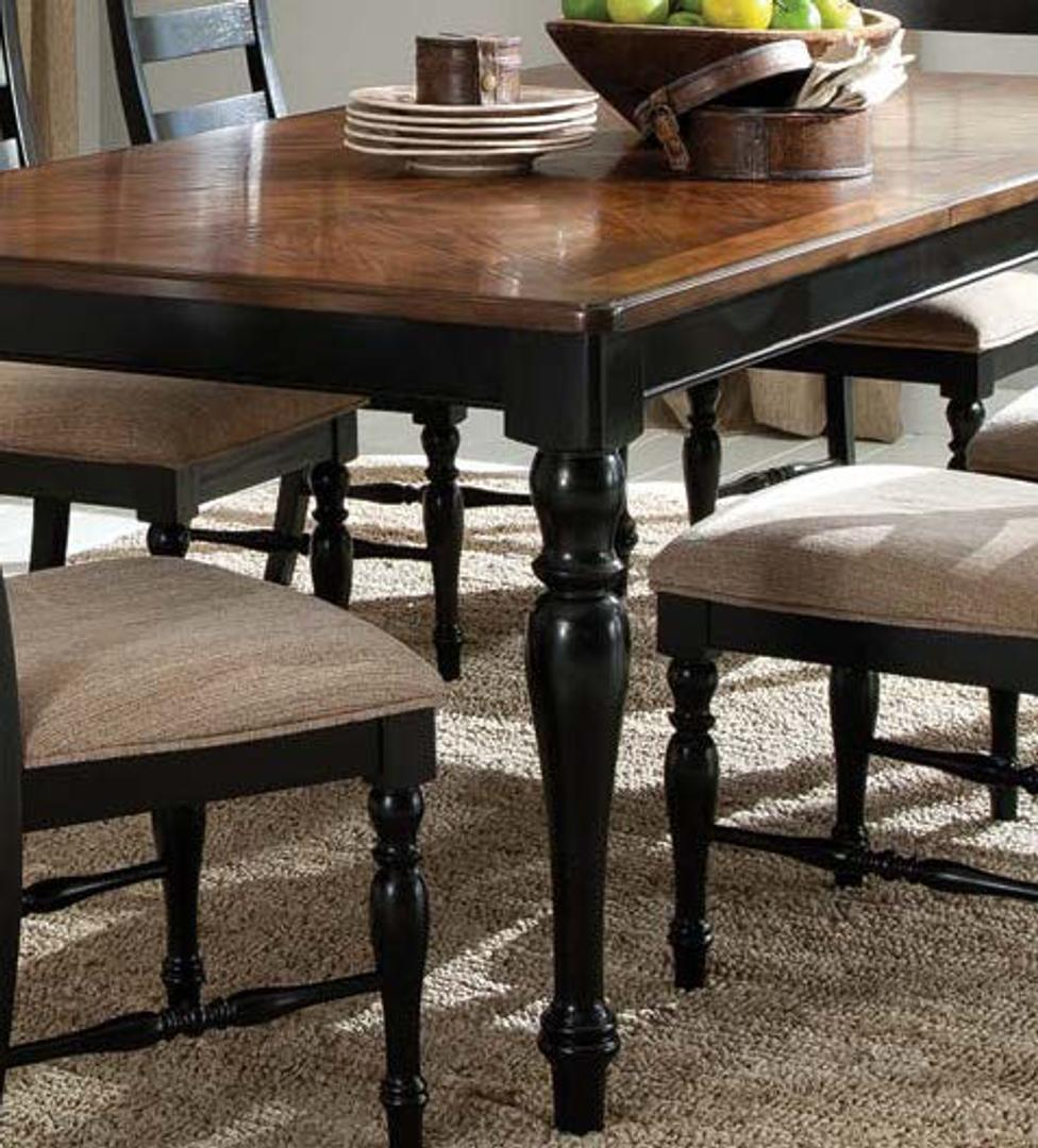 #252 Black & Brown Dining Table $130