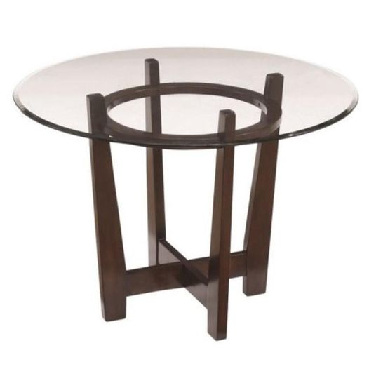 #228 Circular Glass Brown Dining Table $170