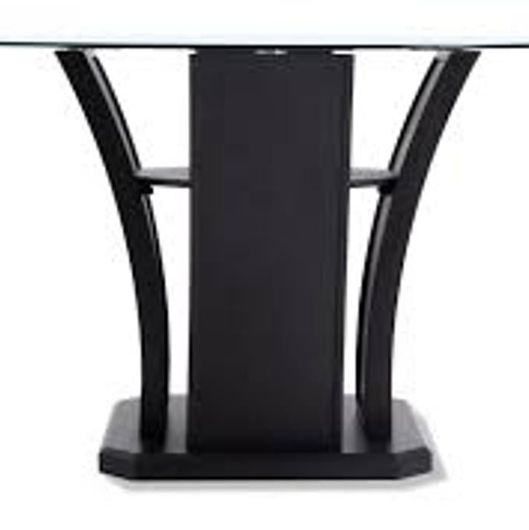 #1118 Glass Top Black Dining Table
