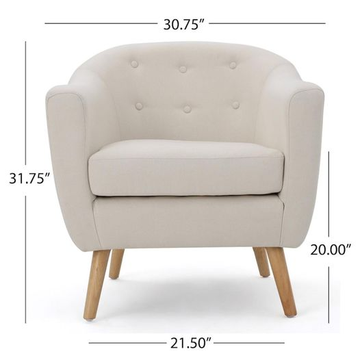 #151 Cream Accent Chair $140 (2 Available)