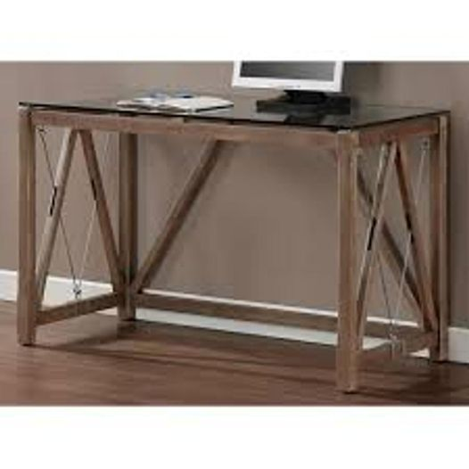 #797 Glass Top Console Table $160